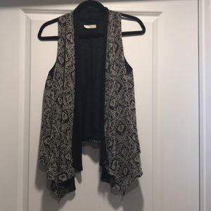 Black and Gray Lush Vest